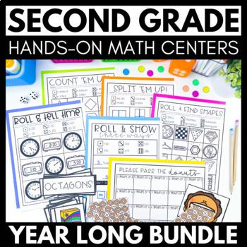2nd Grade Math Centers - GROWING Bundle!