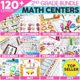 2nd Grade Digital Math Centers Bundle | Math Games | Distance Learning