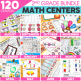 2nd Grade Math Centers Bundle | Includes Christmas Math Ac