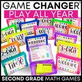 2nd Grade Math Centers | 2nd Grade Math Games BUNDLE | Sec