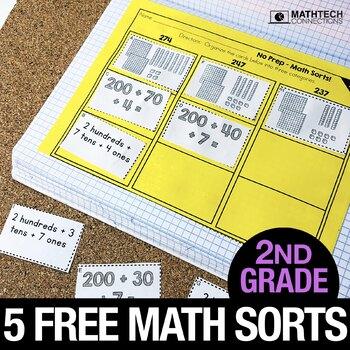 2nd Grade Math Centers - Math Sorts - Math Games for Review