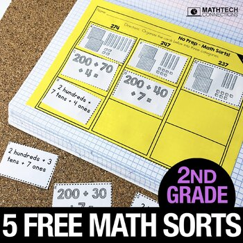 2nd Grade Math Centers - Math Sorts - Math Games for Review