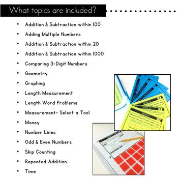 2nd Grade Math Centers   Problem Solving Tasks