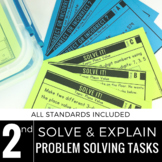 2nd Grade Math Centers | Problem Solving | Solve and Explain