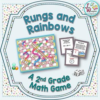 2nd Grade Math Game Rungs and Rainbows