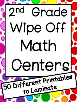 2nd Grade Math Centers: Wipe Off Centers