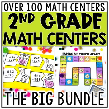 2nd Grade Math Centers for Every Standard COMPLETE BUNDLE
