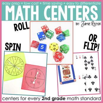 2nd Grade Math Centers for the Entire Year - 36 Centers