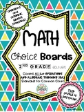 2nd Grade Math Choice Boards CCSS: Operations and Algebrai