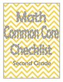 2nd Grade Math Common Core Checklist