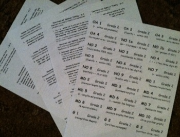 2nd Grade Math Common Core Folder Labels and Statement Cards