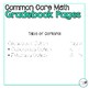 2nd Grade Math Common Core Gradebook Pages **EDITABLE**