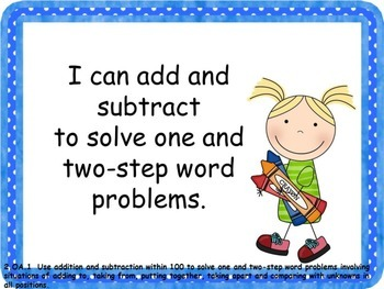 """2nd Grade Math Common Core """"I Can"""" Posters"""