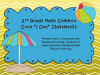 "2nd Grade Math Common Core ""I Can"" Statements"