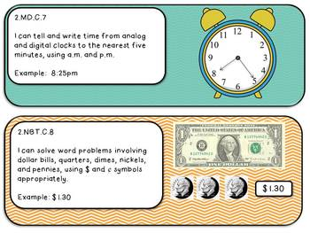"""2nd Grade Math Common Core """"I Can"""" Statements"""