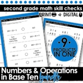 Numbers and Operations in Base Ten Math Quick Checks