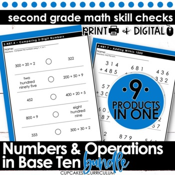 2nd Grade Math - Common Core Print & Go - Numbers & Operat