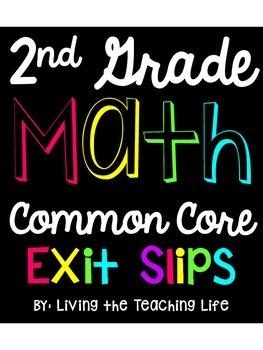 2nd Grade Math Common Core Exit Slips