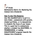 2nd Grade: Math:  Common Core Rubric