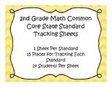 2nd Grade Math Common Core Standard Track Sheets