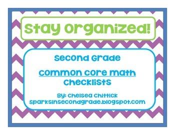 2nd Grade Math Common Core Standards Checklist