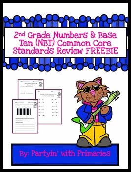 2nd Grade Math Common Core Standards (NBT) Review Questions FREEBIE