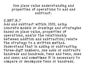 2nd Grade Math Common Core Standards PDF