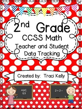 2nd Grade  Math Common Core Teacher and Student Data Tracking Sheets