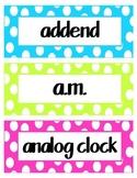 2nd Grade Math Common Core Vocab Words