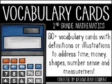 Math Vocabulary Cards {2nd Grade}