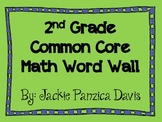 2nd Grade Math Common Core Word Wall Cards