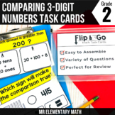 Comparing 3 Digit Numbers Task Cards 2nd Grade Math Centers