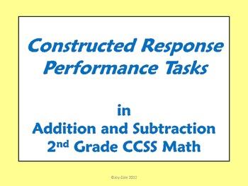 2nd Grade Math Constructed Response Performance Tasks 327162 on Math Constructed Response Worksheets