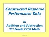 2nd Grade Math - Constructed Response Performance Tasks