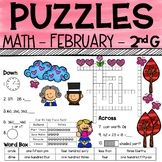 2nd Grade Math Crossword Puzzles - February