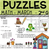 2nd Grade Math Crossword Puzzles - March