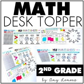 2nd Grade Math Desk Topper