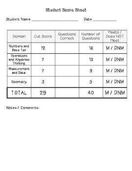 2nd Grade Math Diagnostic Assessment Common Core