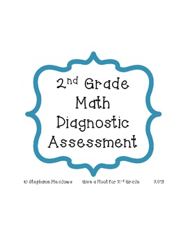 2nd Grade Math Diagnostic Assessment Common Core