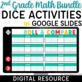 2nd Grade Math Digital Dice Games and Activities in Google Slides