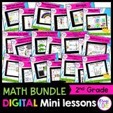 2nd Grade Math Digital Mini Lessons GROWING BUNDLE