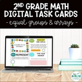 2nd Grade Math Digital Task Cards - Arrays & Equal Groups
