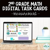 2nd Grade Math Digital Task Cards - Measurement (Distance