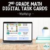 2nd Grade Math Digital Task Cards - Money (Distance Learning)