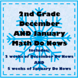 2nd Grade Math Do Now: DECEMBER AND JANUARY COMBO!