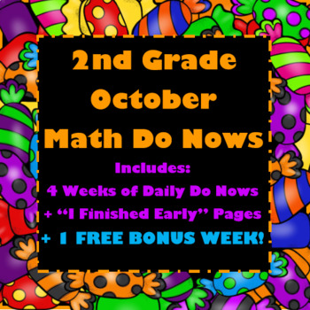 2nd Grade Math Do Now: October (BONUS: 1 FREE WEEK INCLUDED!)