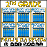 2nd Grade Math & ELA Game Show Review BUNDLE
