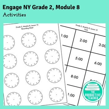 2nd Grade Math Engage New York Aligned Activities: Module 8