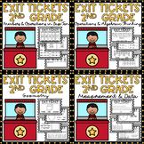 2nd Grade Math Exit Tickets BUNDLE