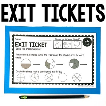 2nd Grade Math Exit Tickets (Exit Slips) Bundle